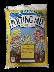 Potting mix compost soil